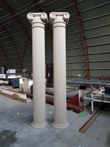 Polistirolo kolonos, fasado dekorai, fasado lipdiniai